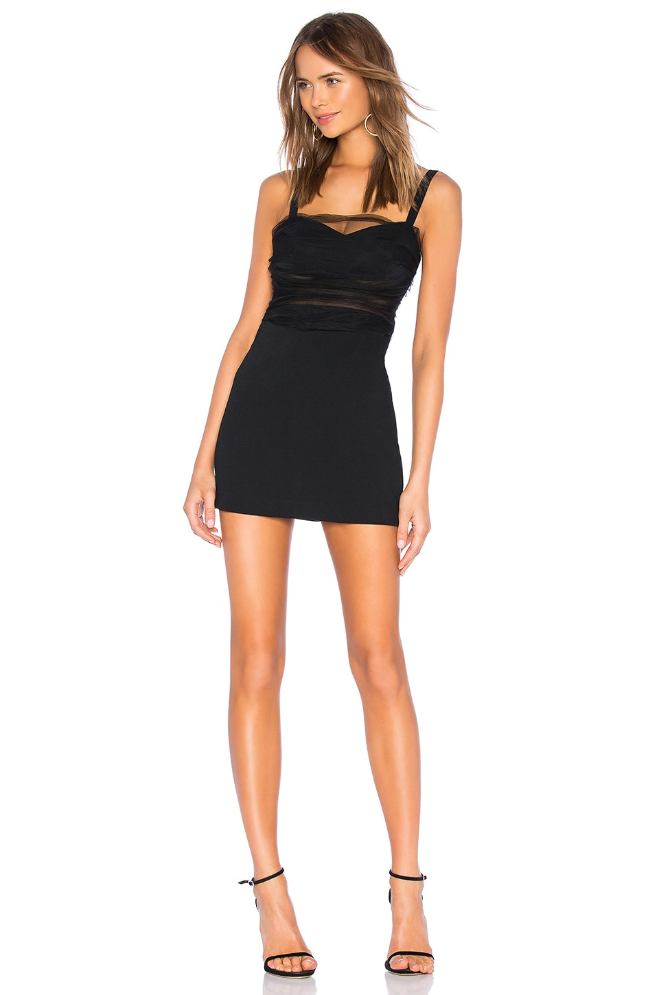 NBD Quinn Mini Dress in Black