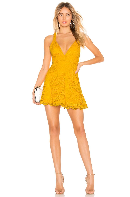 NBD x Naven Macie Dress in Bright Mustard