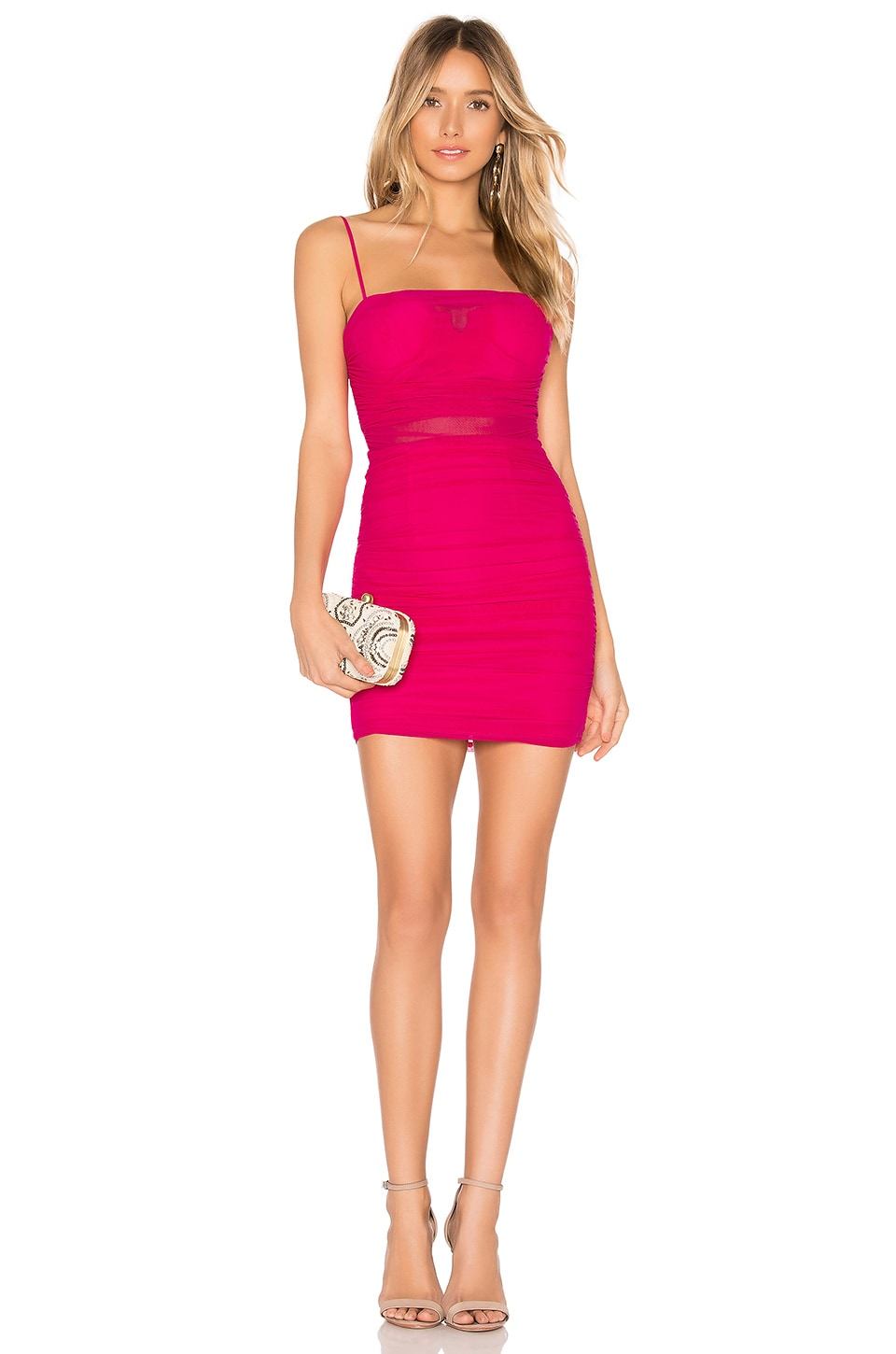 NBD x Naven Milly Dress in Bright Pink