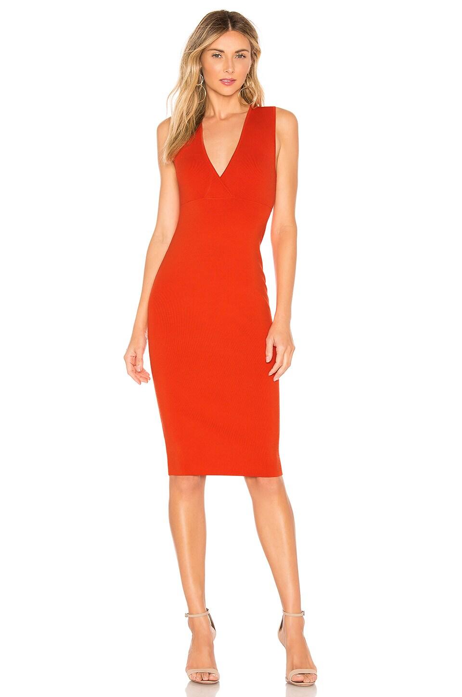 NBD Sina Midi Dress in Red Rose