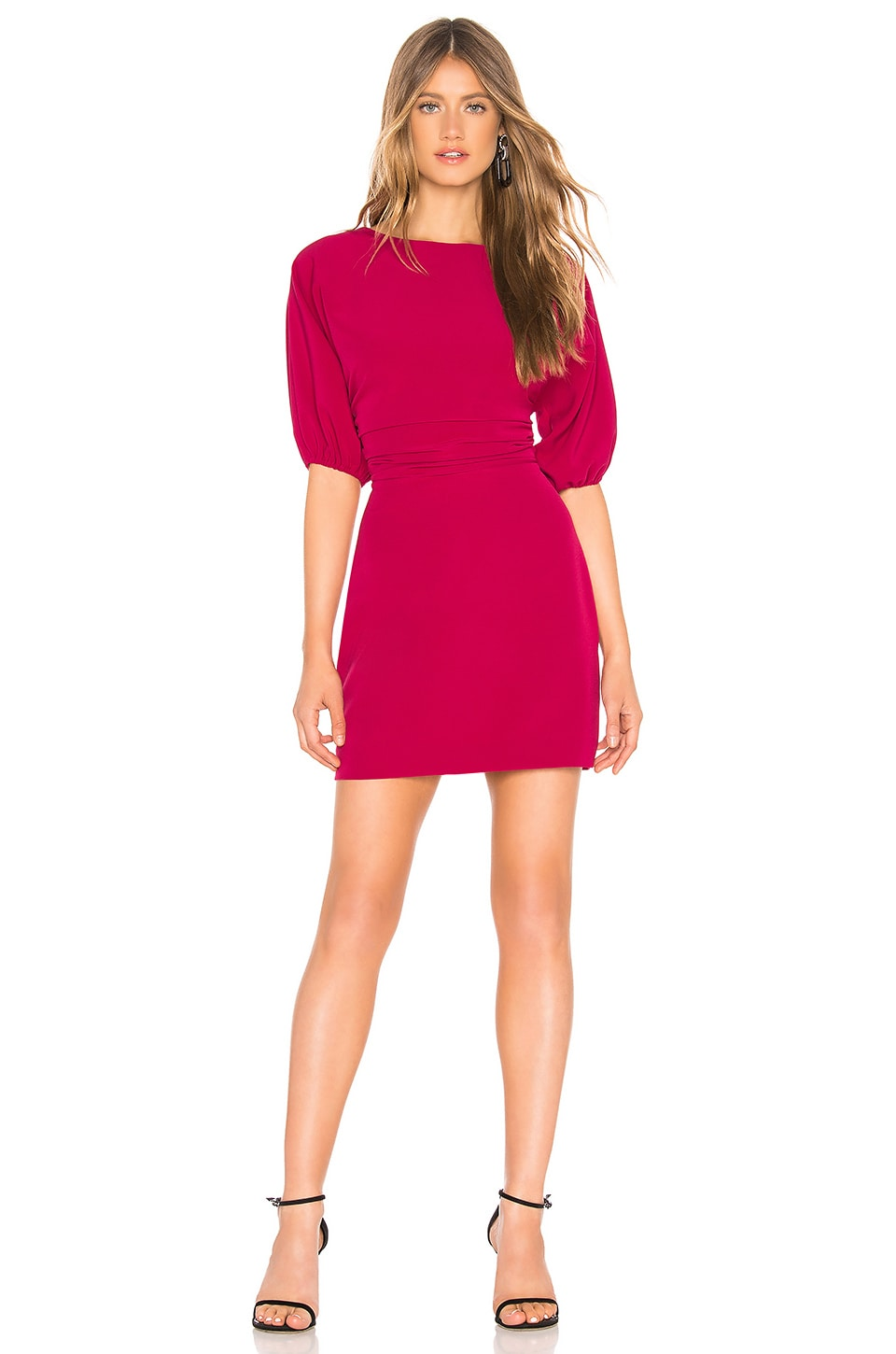 NBD Aine Mini Dress in Raspberry