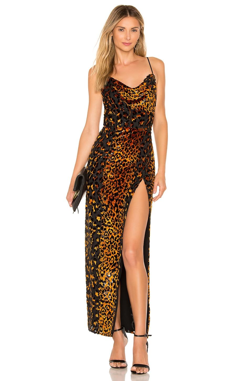 NBD Ren Maxi Dress in Natural Leopard