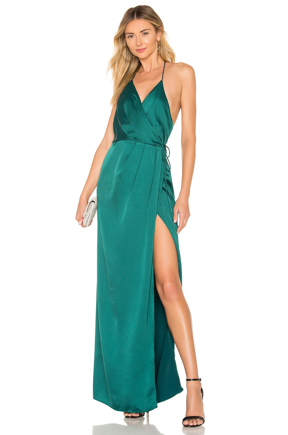 NBD So Anxious Gown in Emerald Green