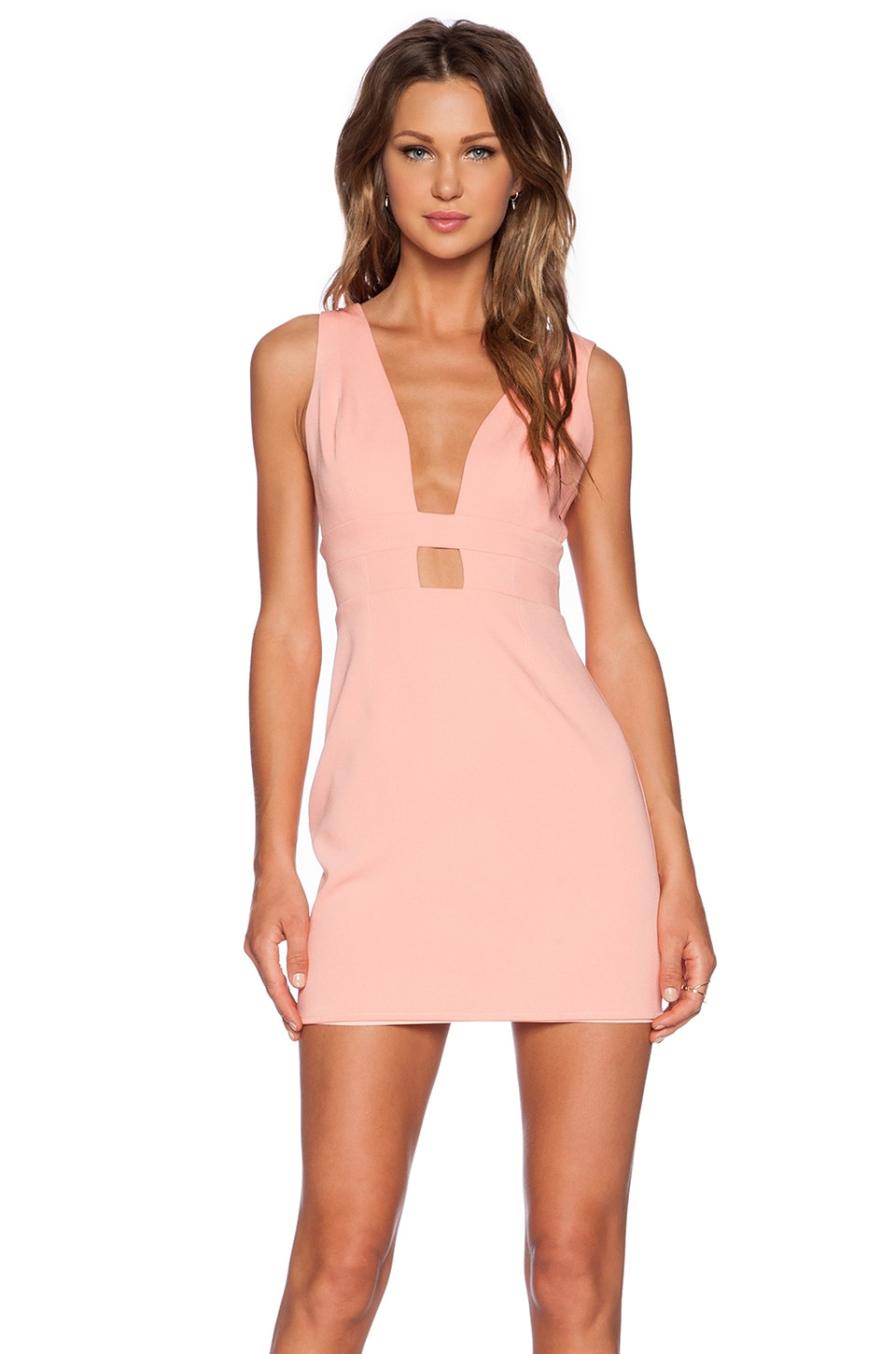 NBD x Naven Twins Exclusive Dress in Peach