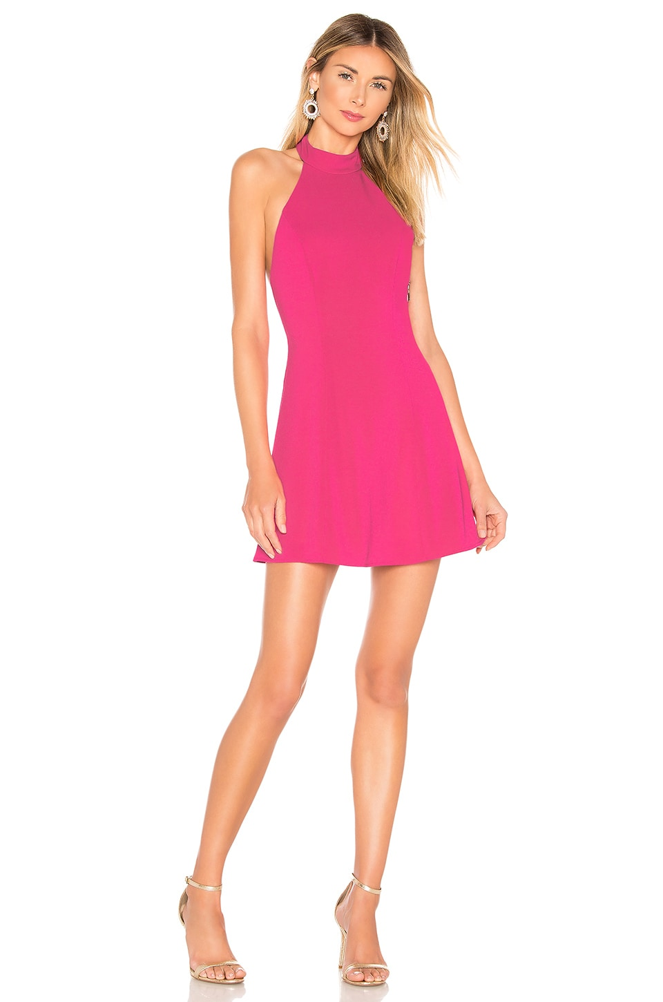 NBD x Naven Ivy Dress in Bright Pink