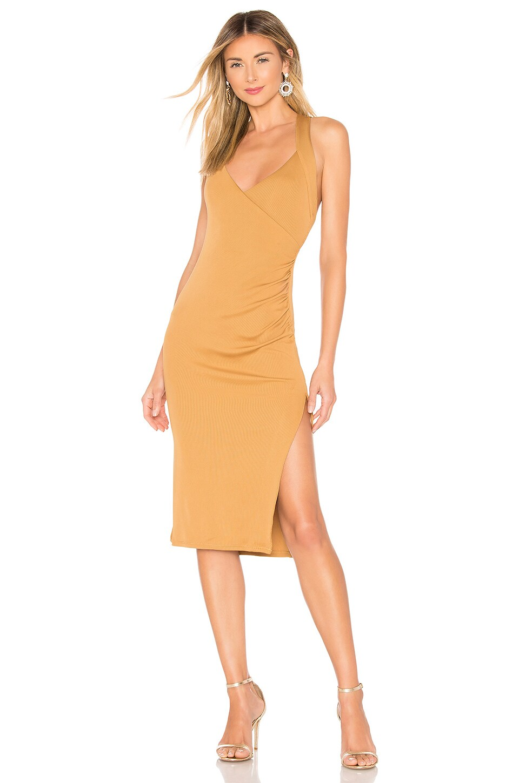 NBD Bridget Midi Dress in Bronze
