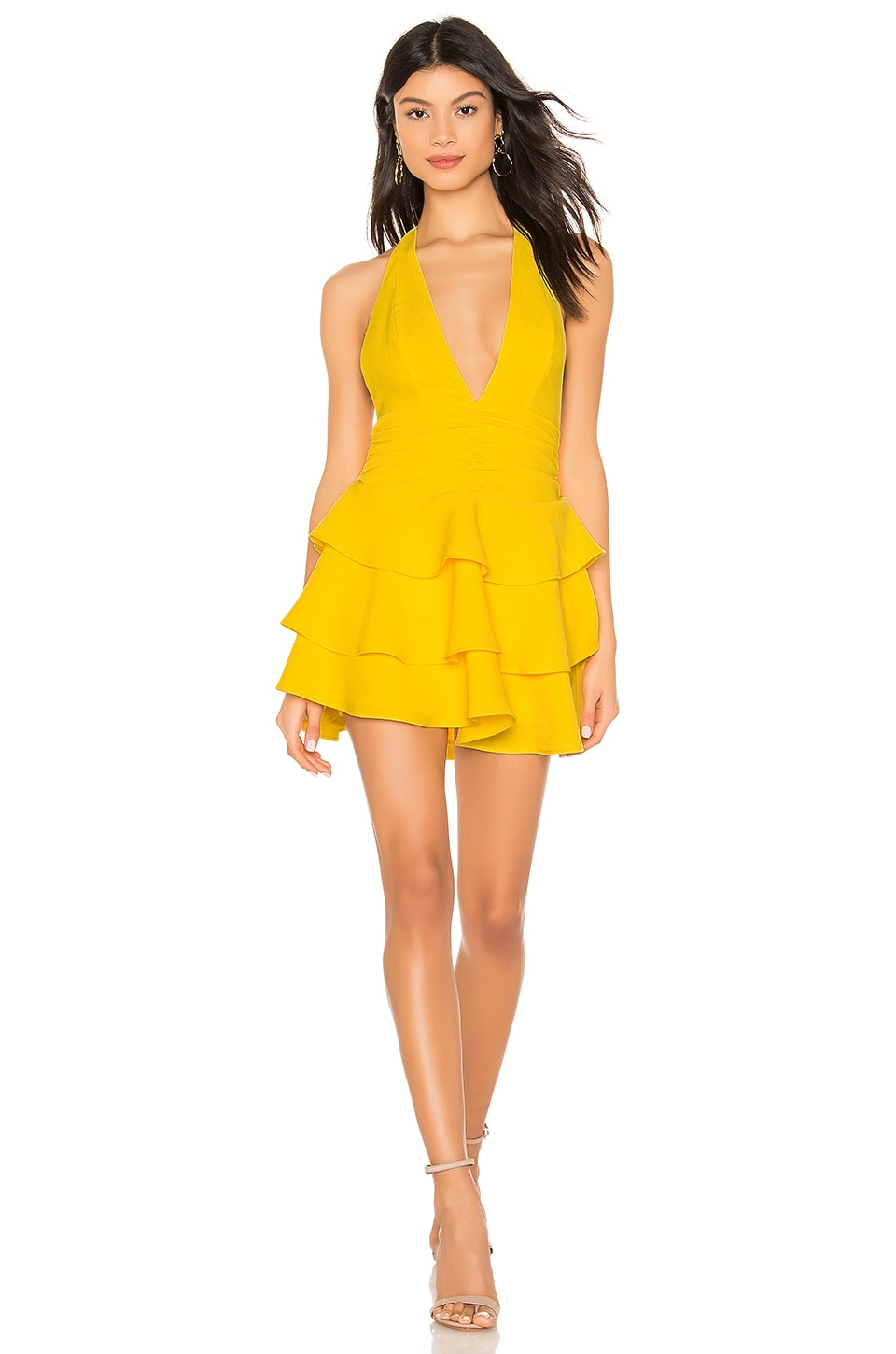NBD Tweets Mini Dress in Canary Yellow