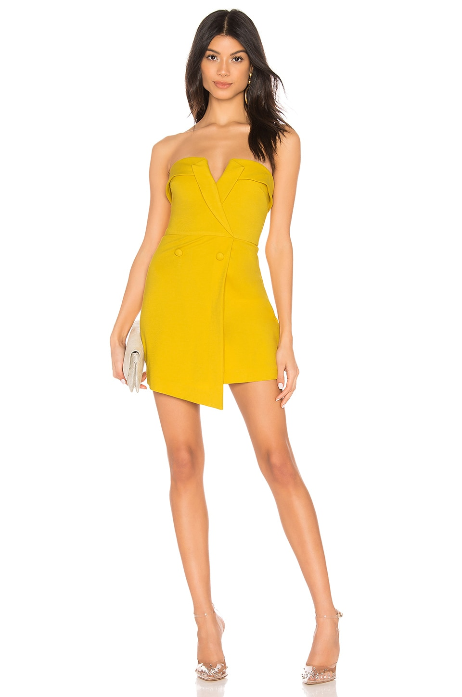 NBD Nori Bodycon in Saffron Yellow