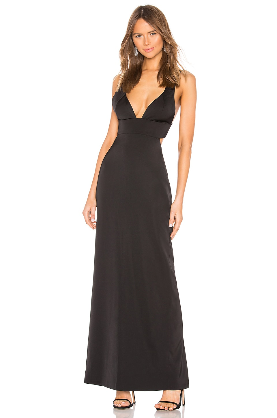 NBD Bel Air Gown in Black