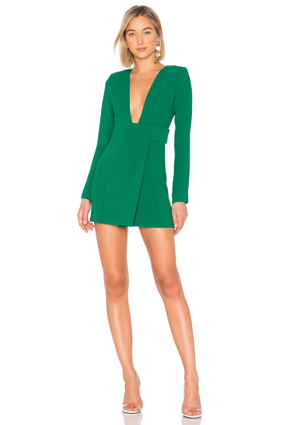 NBD Josiah Mini Dress in Kelly Green