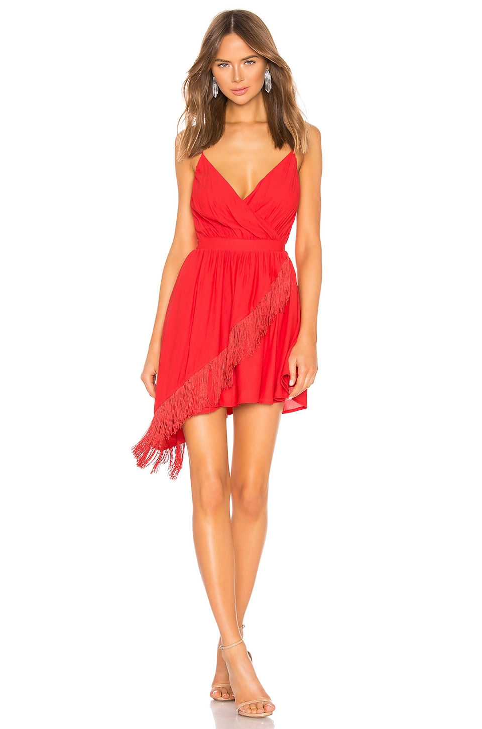 NBD Lolo Mini Dress in Red Rose