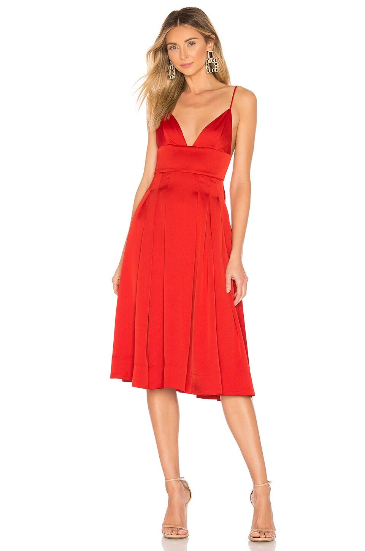 NBD Henri Midi Dress in Paprika Red