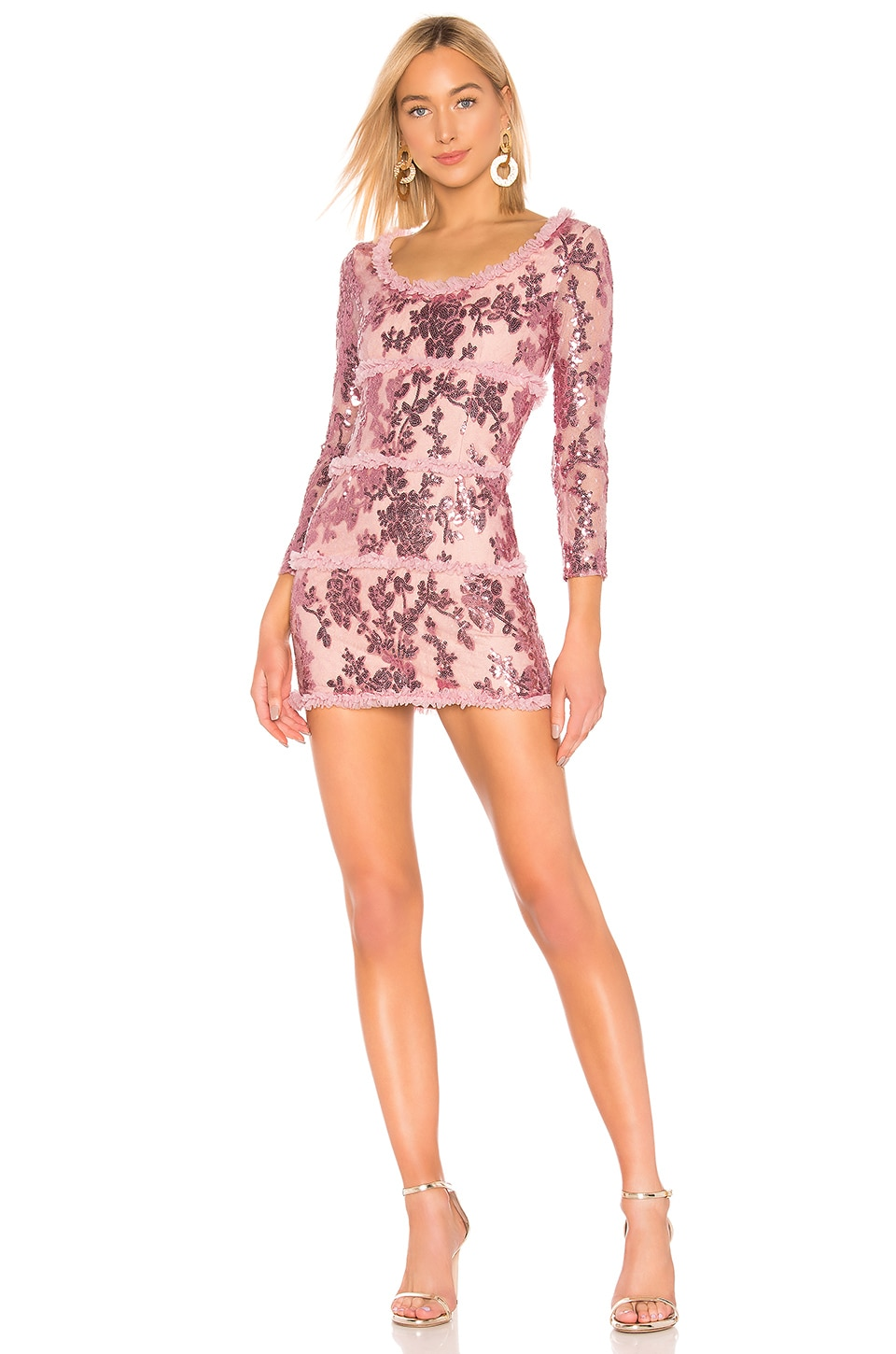 NBD Yareli Mini Dress in Mauve