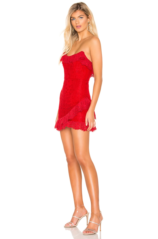 NBD Bree Mini Dress in Cherry Red
