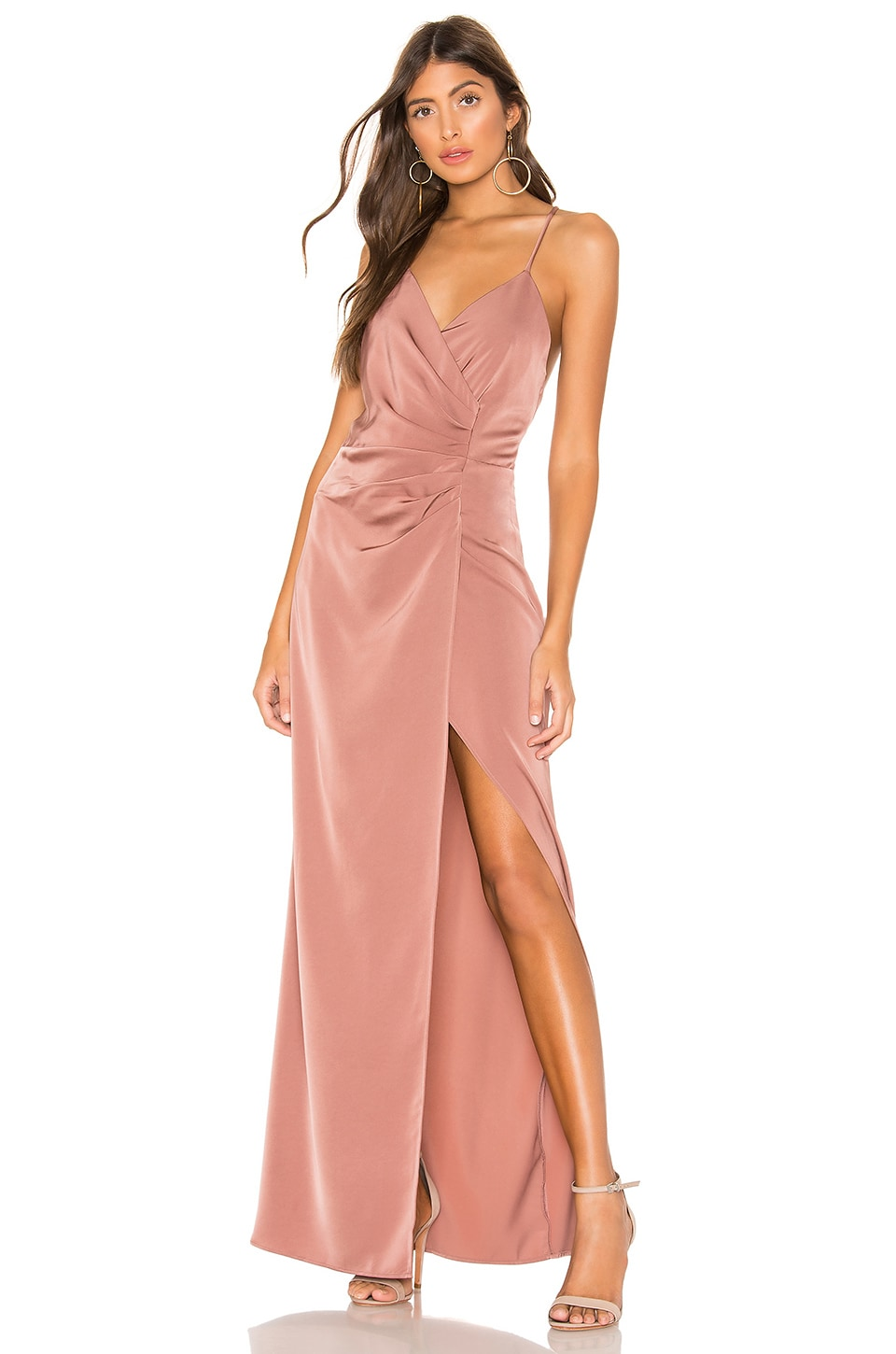 NBD Daydreamer Maxi Dress in Mauve