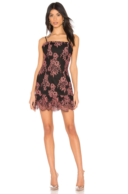 NBD Kayden Mini Dress in Clay Pink & Black
