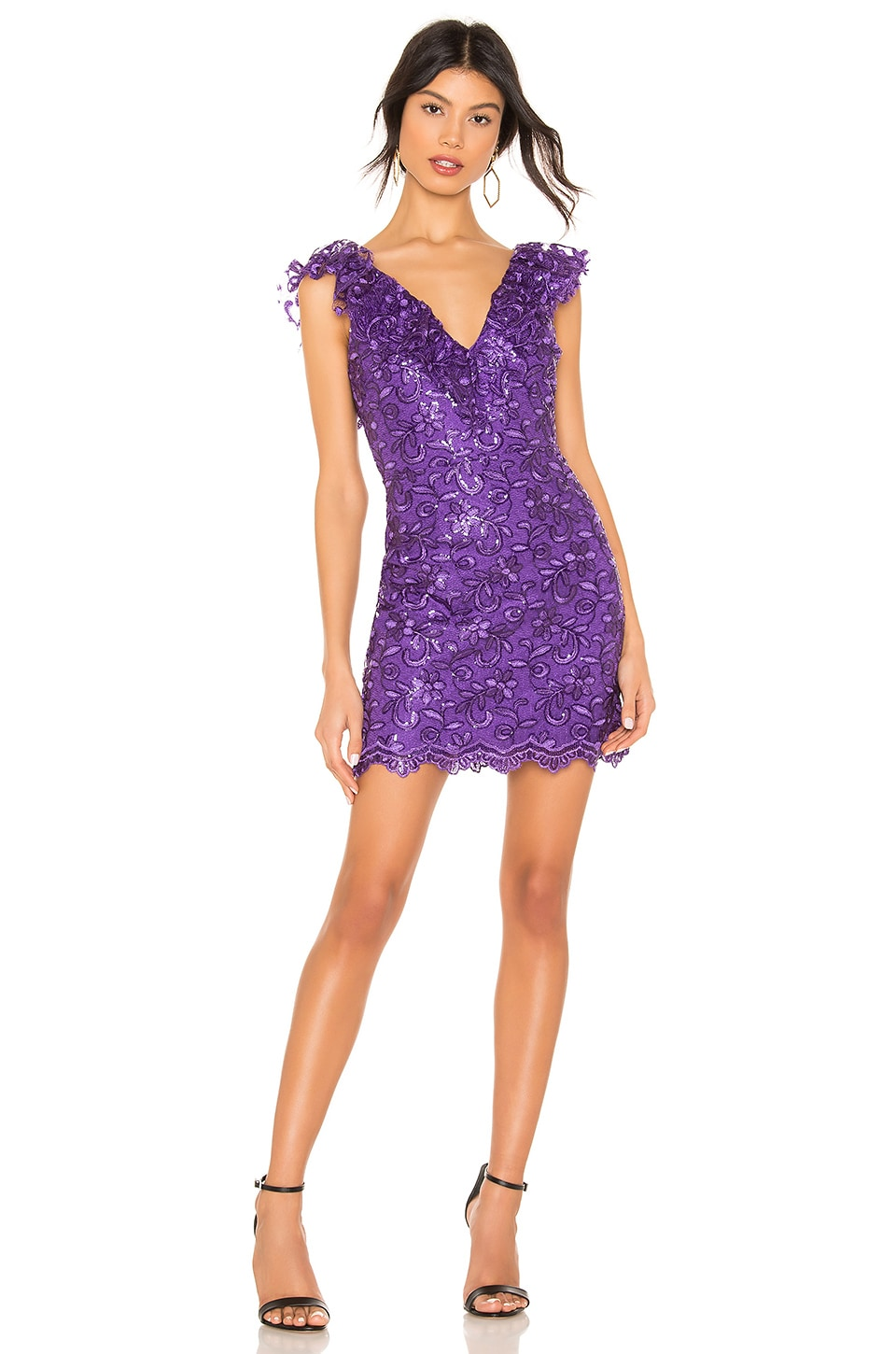 NBD Channing Mini Dress in Ultra Violet