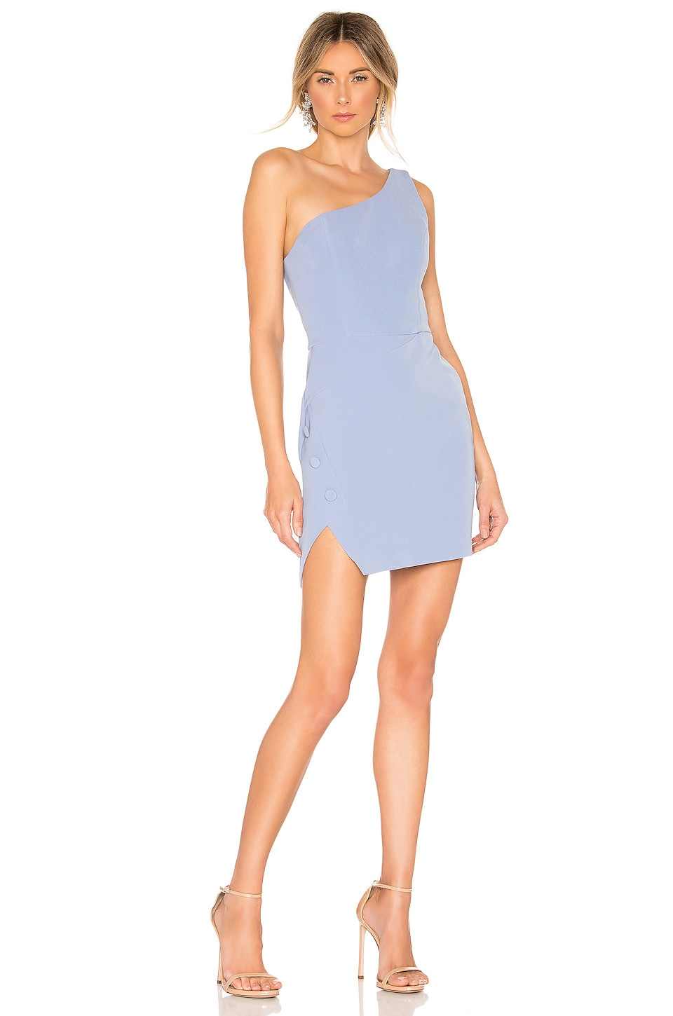 NBD Aldon Mini Dress in Soft Blue