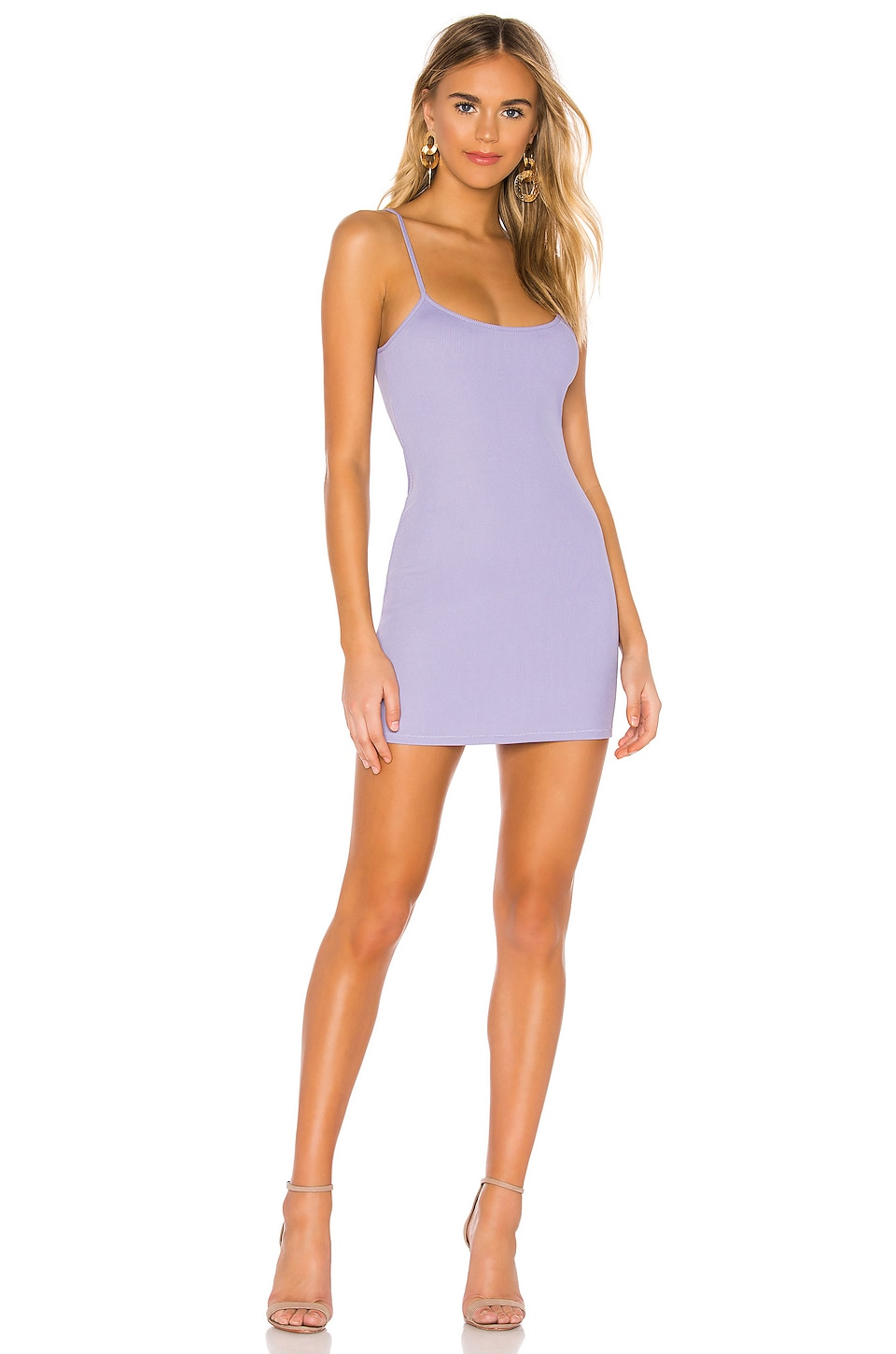 NBD Melissa Mini Dress in Pastel Lilac