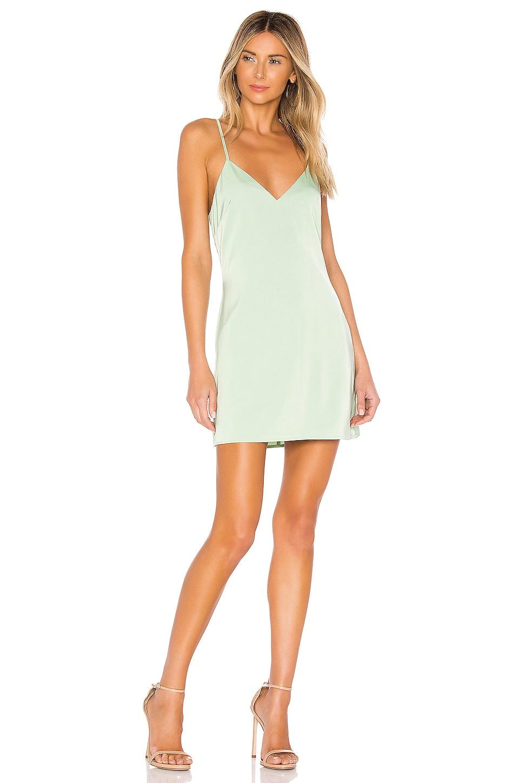 NBD Zelda Mini Dress in Pastel Sage