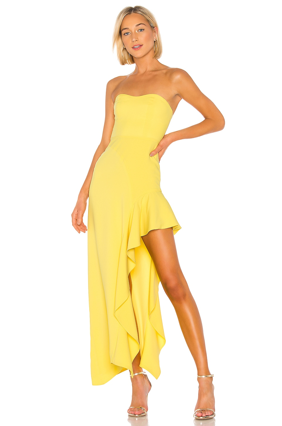NBD Floreena Gown in Yellow