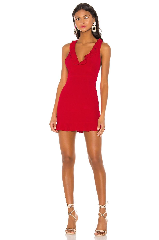 NBD x Naven Maya Dress in True Red