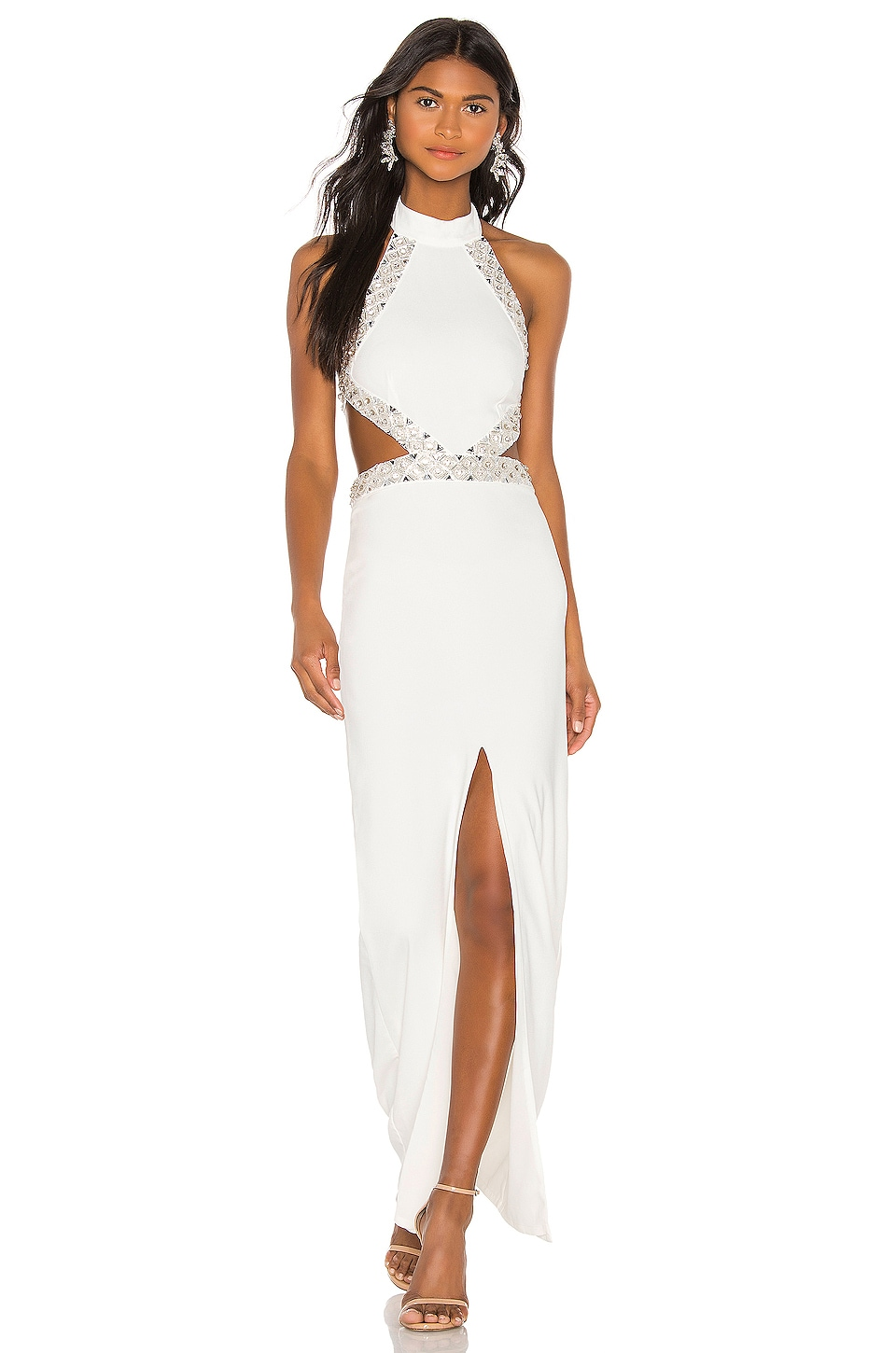 NBD Nicolina Gown in White