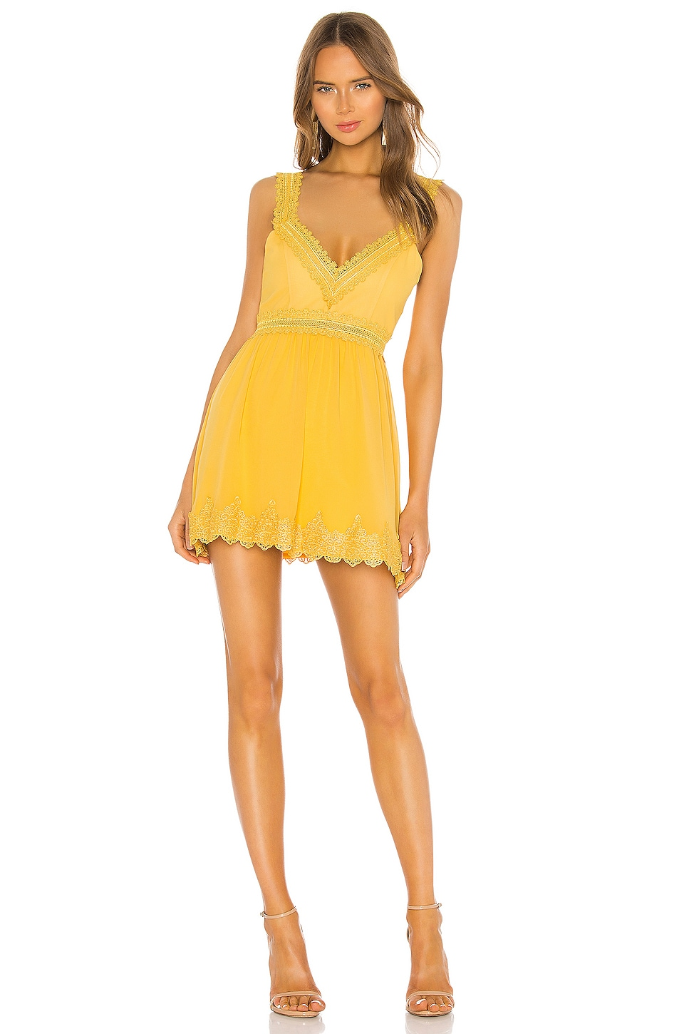 NBD Holly Mini Dress in Pastel Yellow