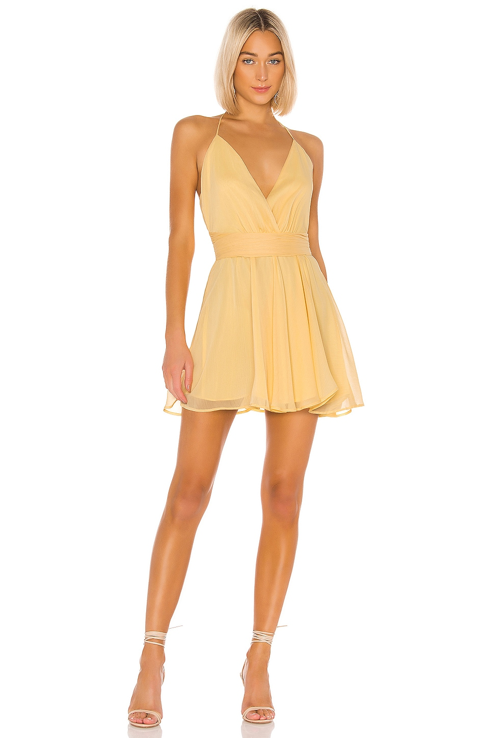 NBD Robyn Mini Dress in Cream Yellow