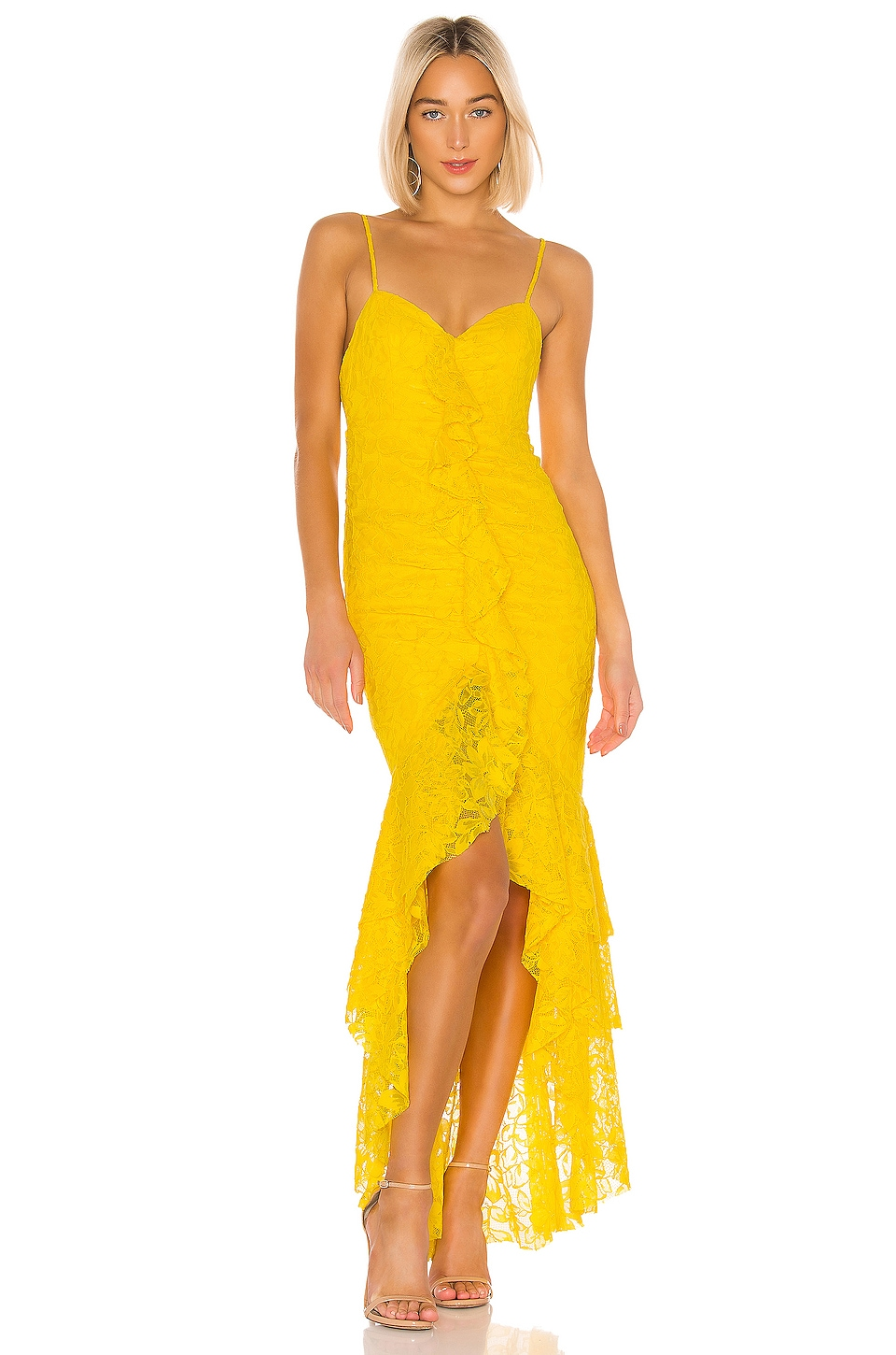NBD Rosaleen Gown in Bright Yellow