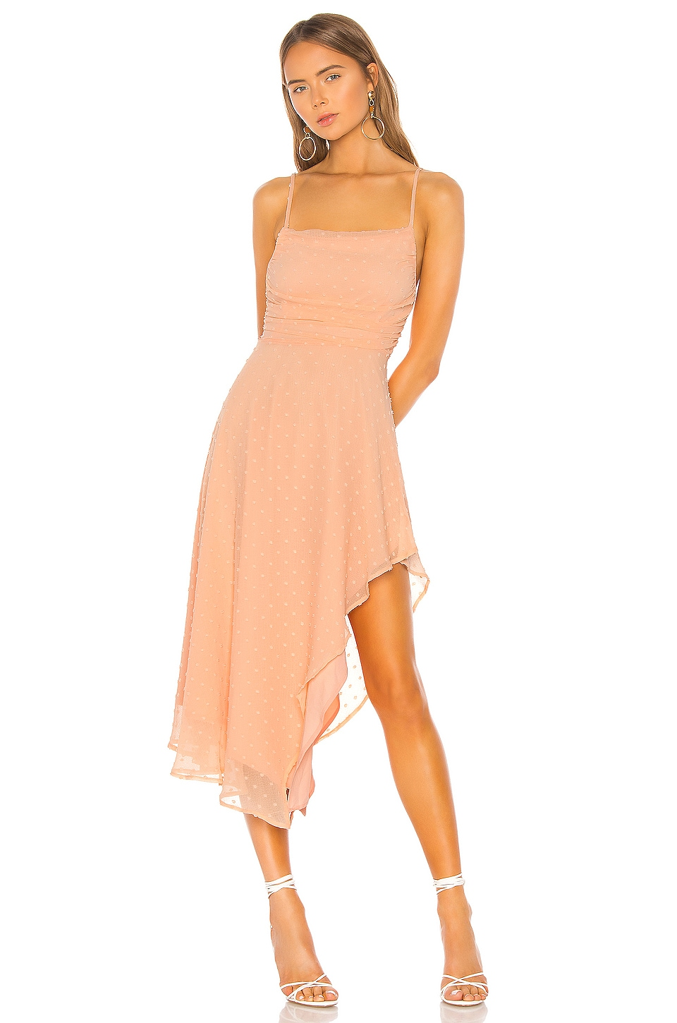 NBD Yvonne Midi Dress in Peach Nude