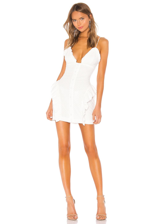 NBD Ruby Mini Dress in Star White