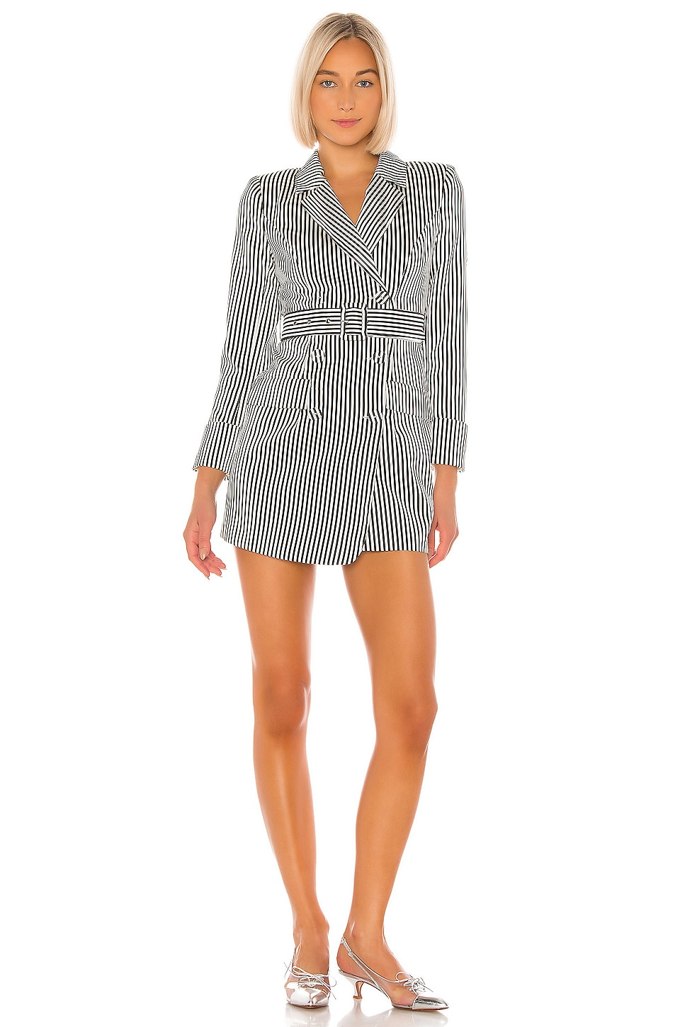 NBD Maya Blazer Dress in Black & White