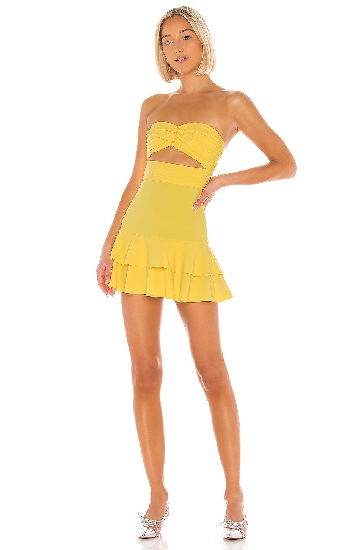NBD x Naven Lauren Dress in Canary Yellow