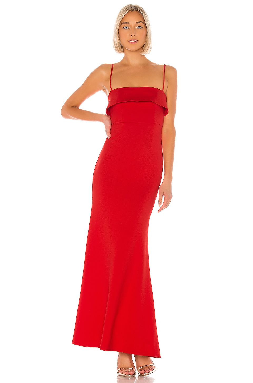 NBD Uzi Gown in Red Orange