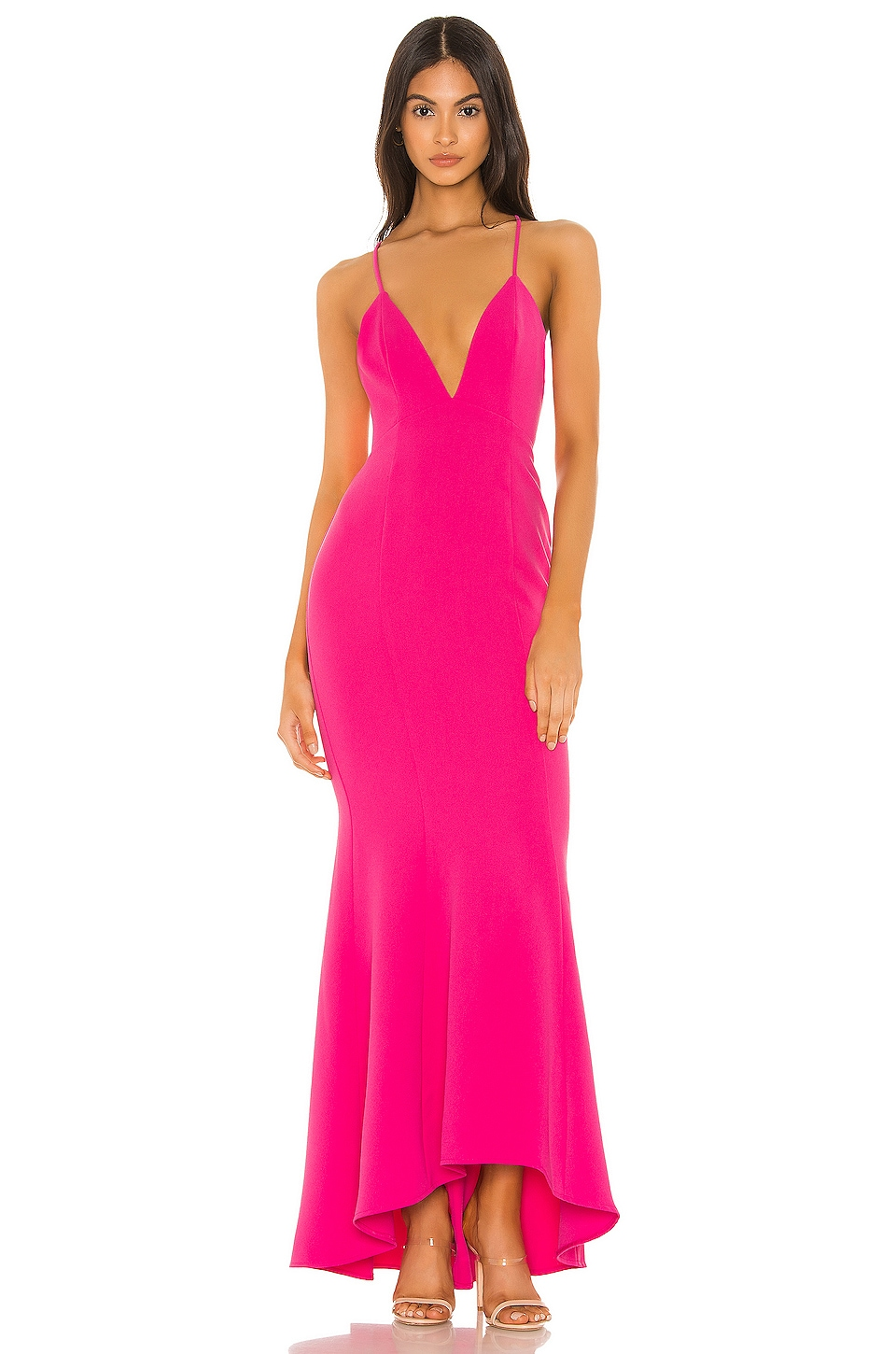NBD Mindy Gown in Hot Pink