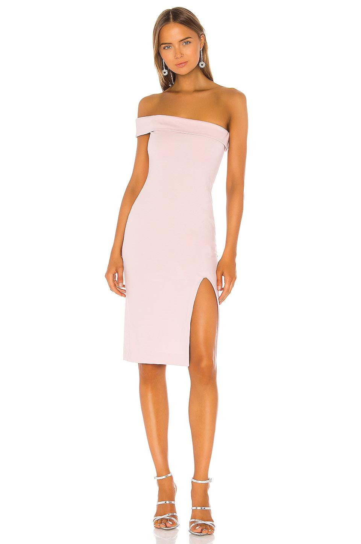 NBD Kade Midi Dress in Ballet Pink