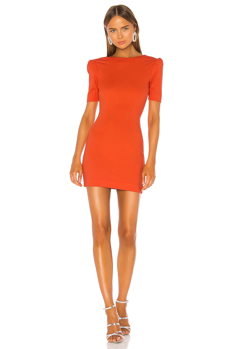 NBD Dani Mini Dress in Red Orange