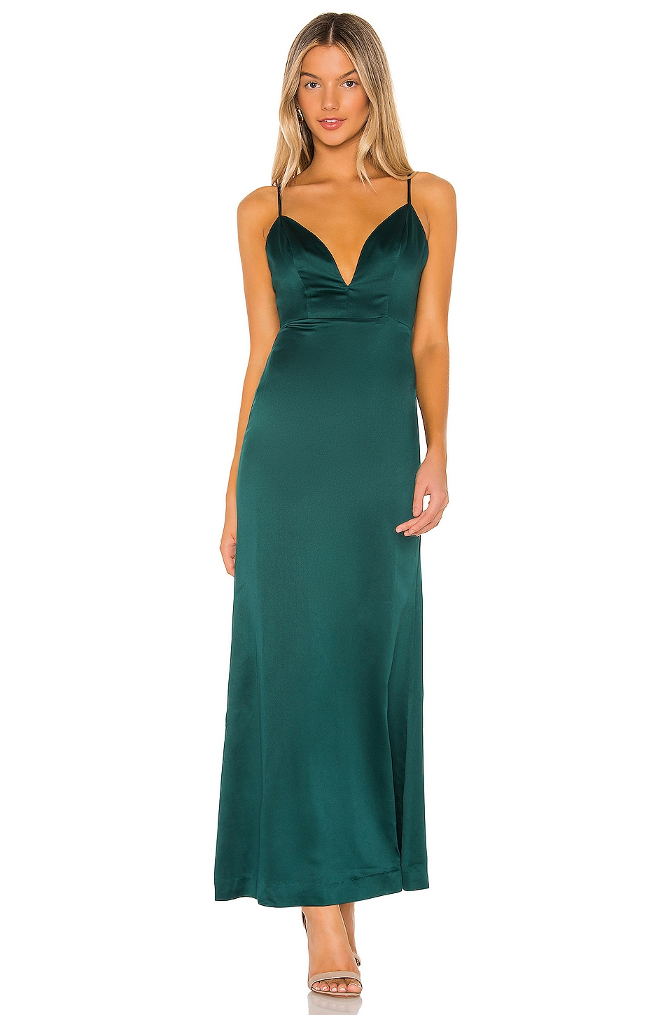 NBD Corona Gown in Emerald Green