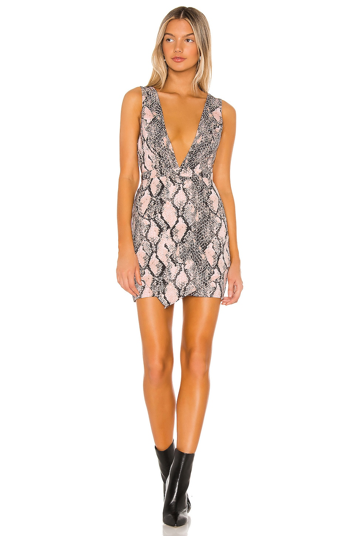NBD x Naven Veronica Dress in Blush Python