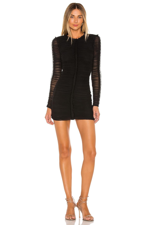 NBD Las Olas Long Sleeve Mini Dress in Black