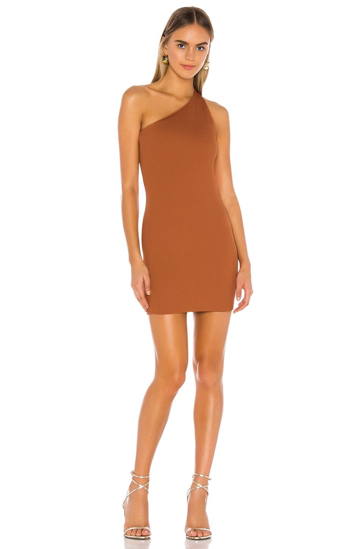 NBD Daxton Mini Dress in Copper