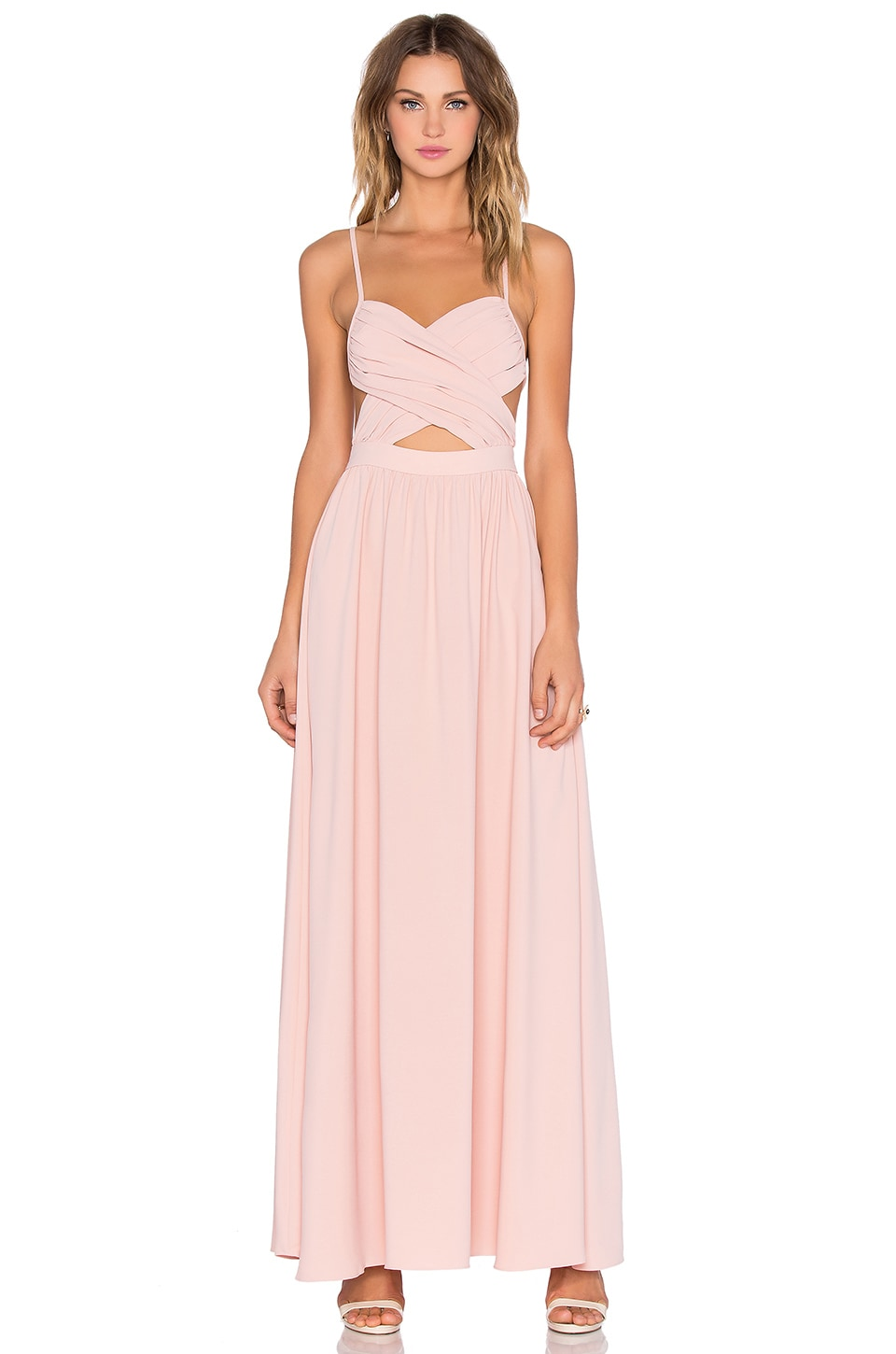 NBD Anytime Maxi Dress in Champagne Pink