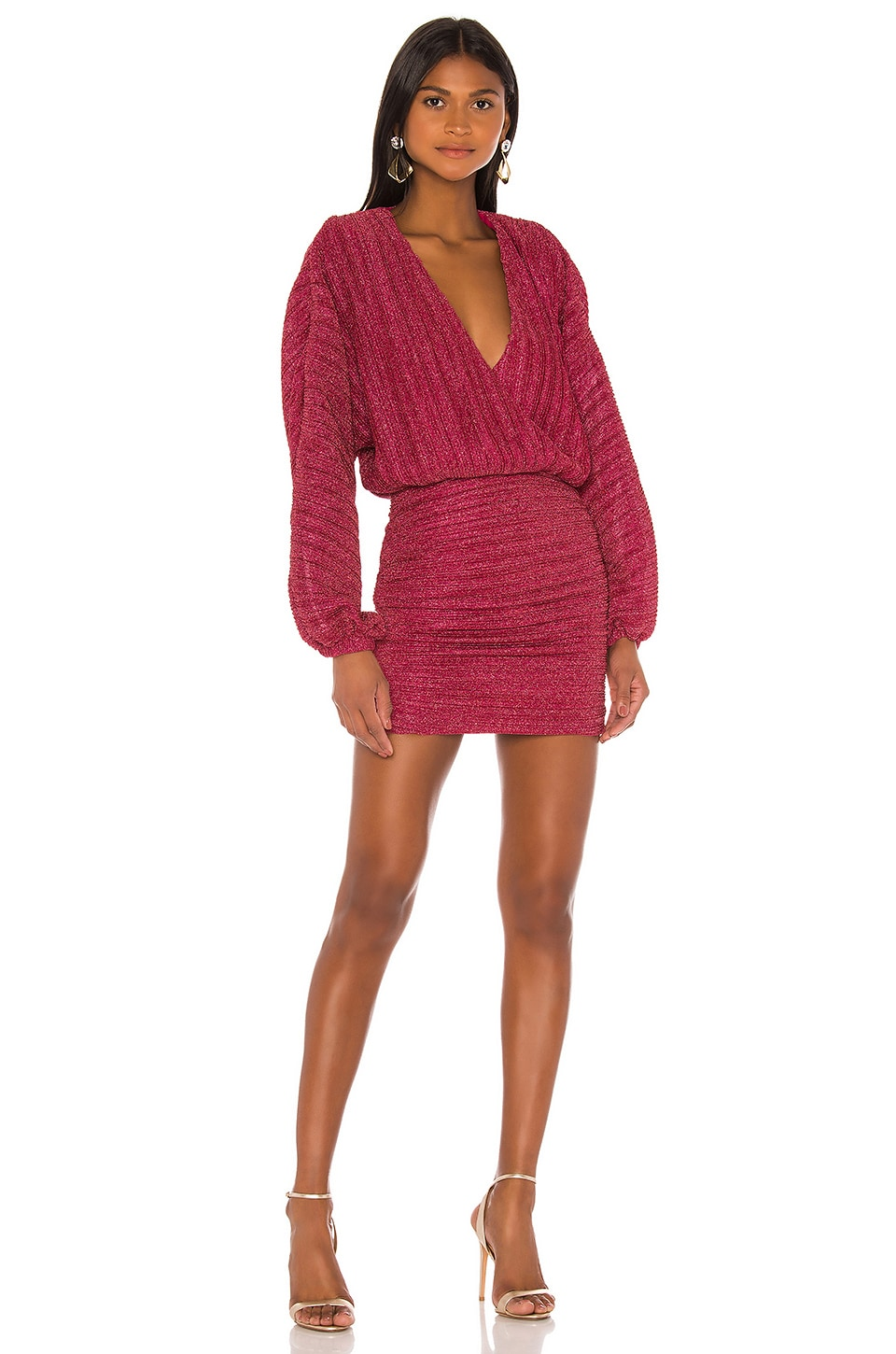 NBD Illusion Mini Dress in Fuchsia