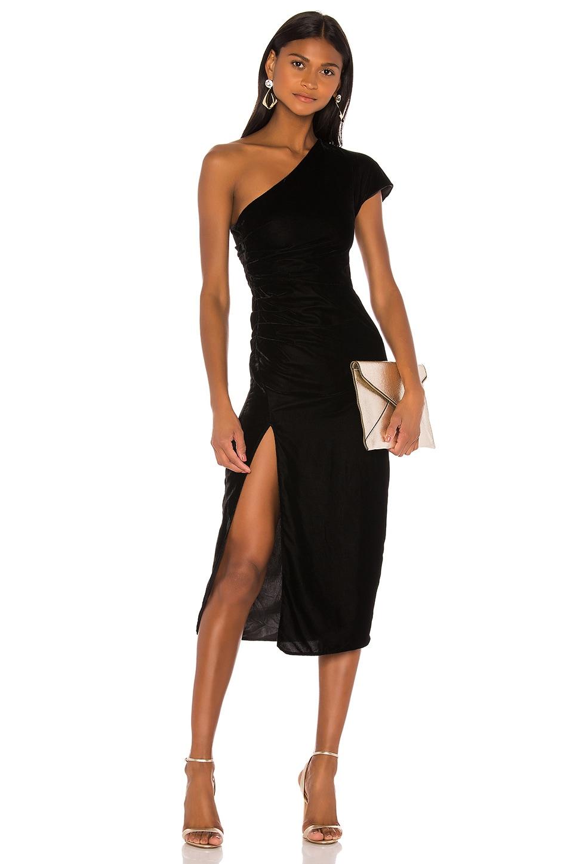 NBD Selene Midi Dress in Black
