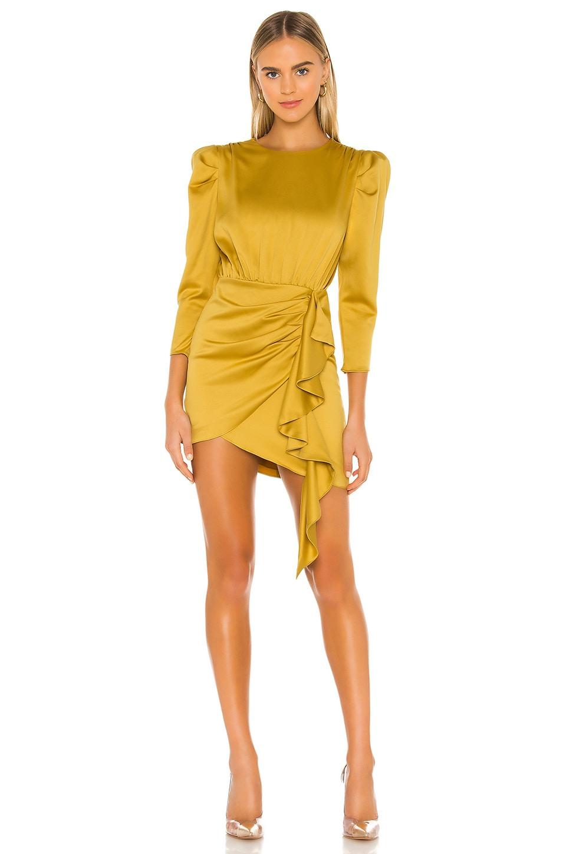 NBD Pandora Dress in Mustard Yellow