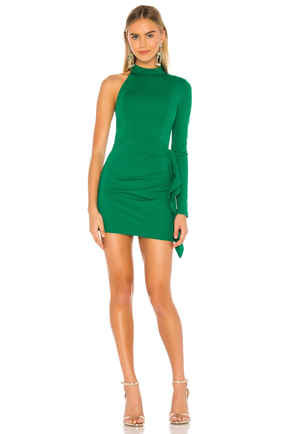 NBD Taj Mini Dress in Kelly Green