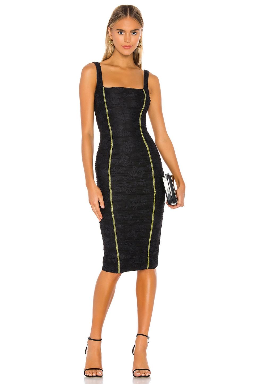 NBD Genine Midi Dress in Black