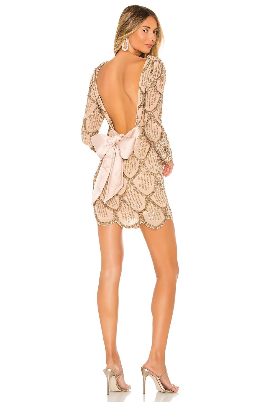 NBD Tristan Mini Dress in Gold & Nude