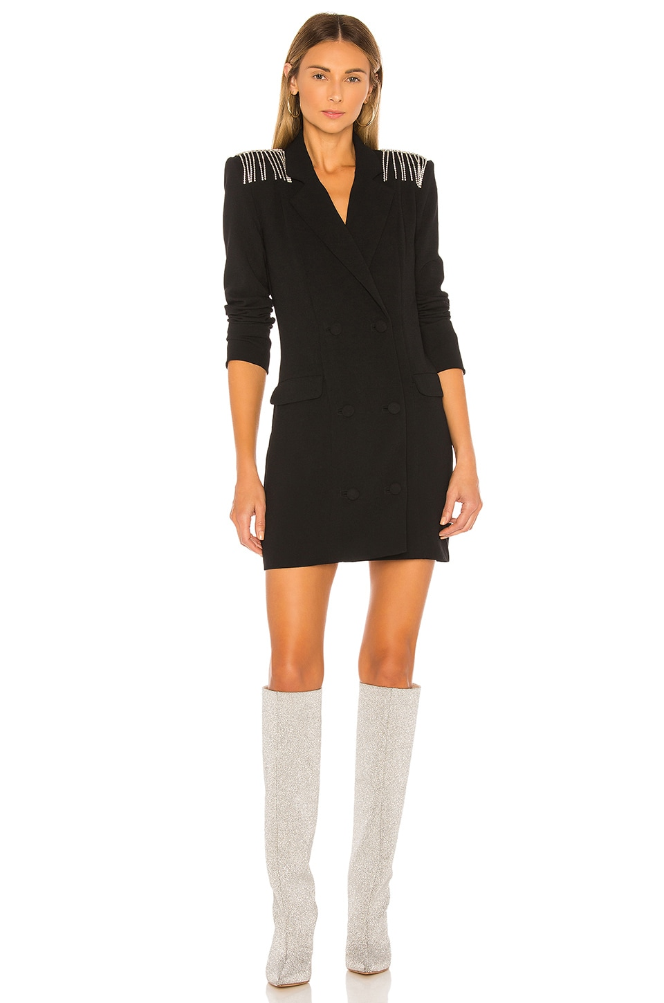 NBD Neena Blazer Dress in Black
